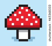 pixel art  minimalist mushroom... | Shutterstock .eps vector #465368333