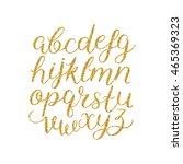vector handwritten brush script ... | Shutterstock .eps vector #465369323