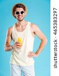 portrait of happy young man in... | Shutterstock . vector #465383297