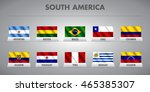 south american countries waving ... | Shutterstock .eps vector #465385307