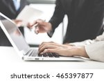 group of business people busy... | Shutterstock . vector #465397877