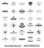 vintage logos design templates... | Shutterstock .eps vector #465398243
