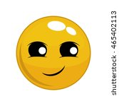 happy face cartoon sphere...   Shutterstock .eps vector #465402113