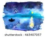 Romantic Starry Night Lake Vie...