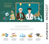 education infographic professor ... | Shutterstock .eps vector #465421217