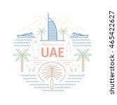 uae line banner. united arab... | Shutterstock .eps vector #465422627