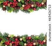 christmas background border... | Shutterstock . vector #465426713
