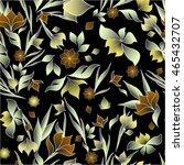 dark floral seamless pattern | Shutterstock .eps vector #465432707