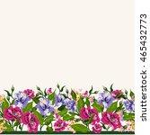 vector floral watercolor... | Shutterstock .eps vector #465432773