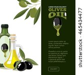 vector illustration of olives ... | Shutterstock .eps vector #465434477