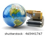 international package delivery... | Shutterstock . vector #465441767