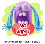 3d illustration sad character... | Shutterstock . vector #465451523