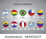 south american countries waving ... | Shutterstock .eps vector #465453227