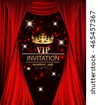 vip invitation banner with red... | Shutterstock .eps vector #465457367