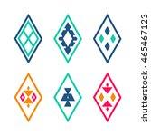 vector tribal elements. ethnic... | Shutterstock .eps vector #465467123