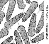 vector hand drown feathers...   Shutterstock .eps vector #465471467