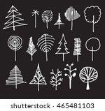 vector chalkboard style tree... | Shutterstock .eps vector #465481103