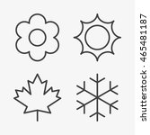 outline seasons icons  winter ...