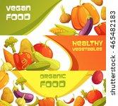 healthy organic vegan food... | Shutterstock .eps vector #465482183