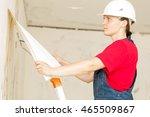 woman construction worker... | Shutterstock . vector #465509867