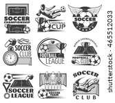 soccer black white emblems of... | Shutterstock .eps vector #465512033