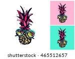 hand drawn summertime fashion... | Shutterstock .eps vector #465512657