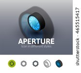 aperture color icon  vector... | Shutterstock .eps vector #465515417