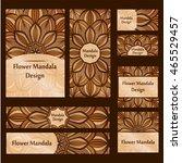 business cards. vintage... | Shutterstock .eps vector #465529457