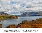 lake kleifarvatn near reykjavik ... | Shutterstock . vector #465531497