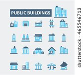 buildings icons | Shutterstock .eps vector #465546713