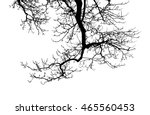 branch silhouette without...   Shutterstock . vector #465560453