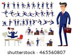 young cartoon businessman in... | Shutterstock .eps vector #465560807