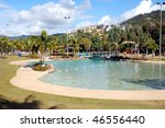 Airlie Beach Lagoon downtown, Australia - stock photo