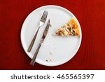 last piece of pizza on a white... | Shutterstock . vector #465565397
