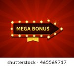 mega bonus retro banner with... | Shutterstock .eps vector #465569717