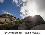 man climbing and scrambling... | Shutterstock . vector #465570683