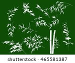 illustration with bamboo... | Shutterstock .eps vector #465581387