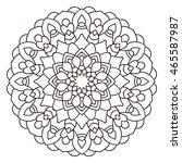 symmetrical circular pattern... | Shutterstock . vector #465587987
