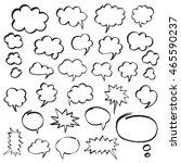 set of speech bubbles and...   Shutterstock .eps vector #465590237