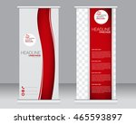 roll up banner stand template.... | Shutterstock .eps vector #465593897