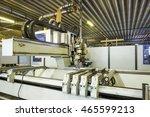 robot in the factory | Shutterstock . vector #465599213