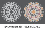 vector circular abstract... | Shutterstock .eps vector #465606767