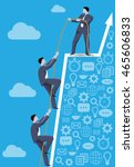 business concept of teamwork...   Shutterstock .eps vector #465606833
