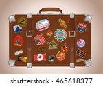 traveler suitcase | Shutterstock .eps vector #465618377