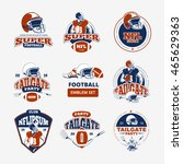american football  rugby vector ... | Shutterstock .eps vector #465629363