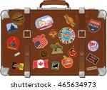 traveler suitcase | Shutterstock .eps vector #465634973