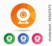 webcam sign icon. web video... | Shutterstock .eps vector #465637673