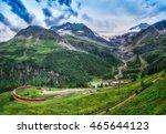 red train bernina express to... | Shutterstock . vector #465644123