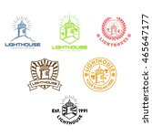 lighthouse logo design template | Shutterstock .eps vector #465647177