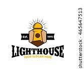 lighthouse logo design template | Shutterstock .eps vector #465647513